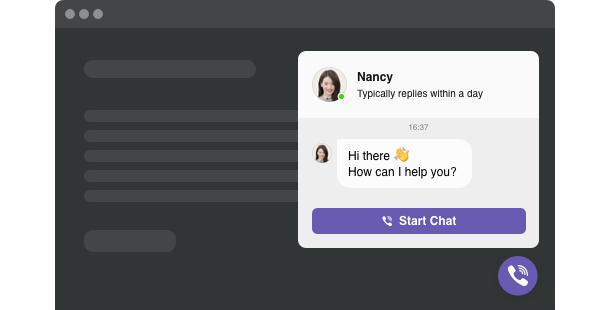 Allow users contact you on Viber directly on your website
