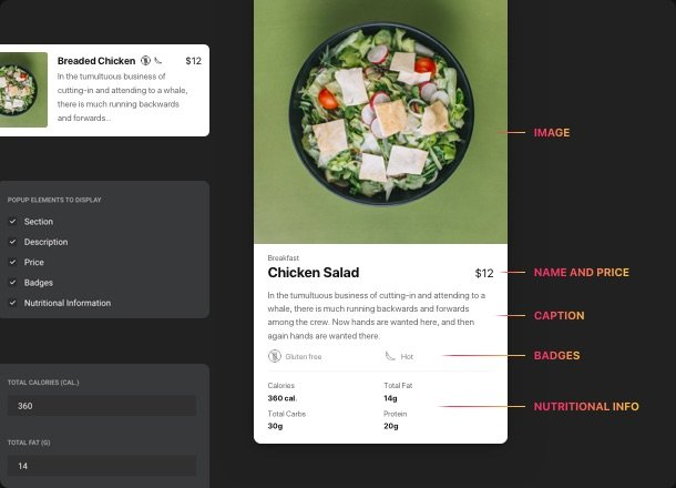 Show uniqueness of your meals and beverages