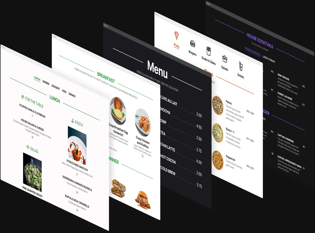 Make your menu stylish and attractive