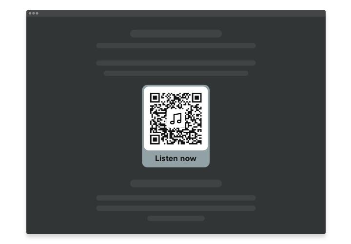 iFrame QR Code widget