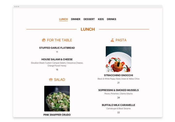 WooCommerce Restaurant Menu plugin
