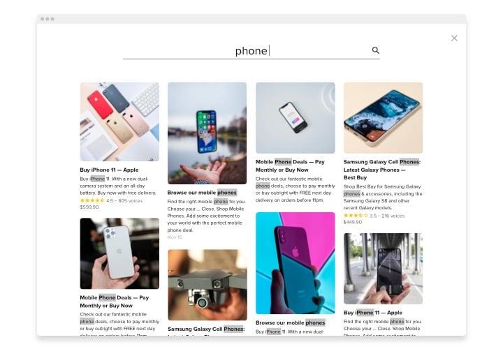 Webnode Search widget