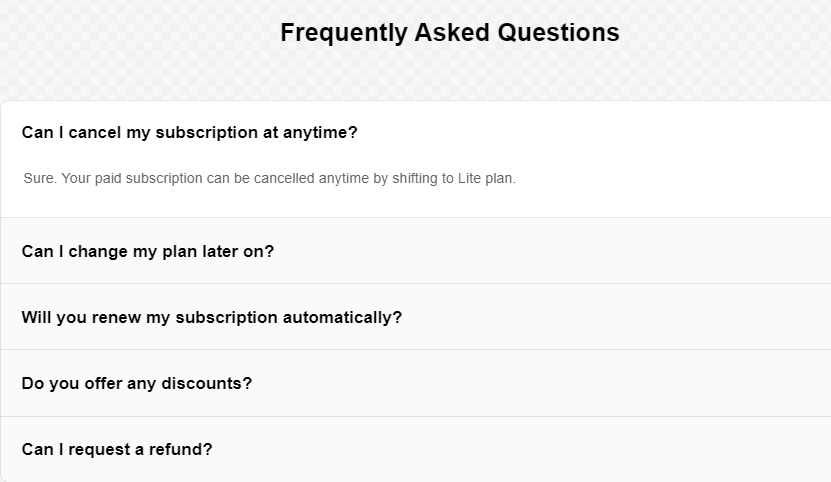 FAQ Accordion custom widget Elfsight