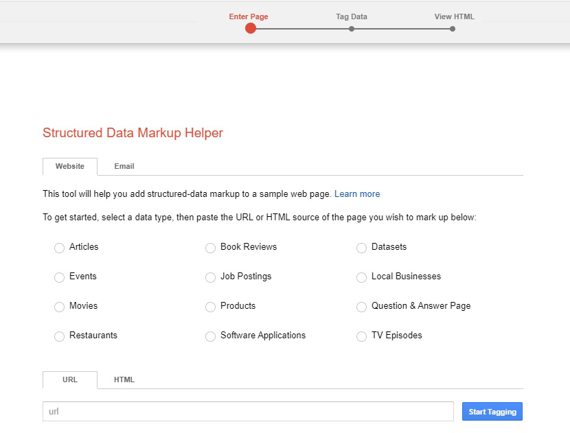 Google Structured Data Markup Helper for video rich snippet