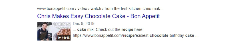 pages with recipe structured data