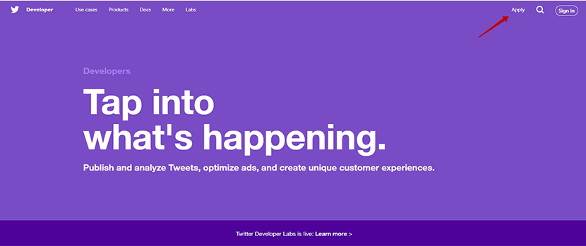 Launching a Twitter developer account