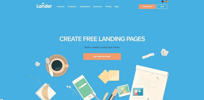 Lander landing page builder