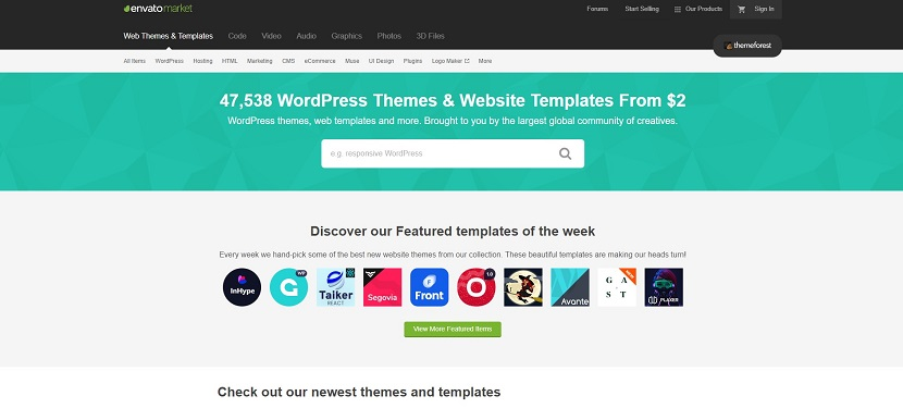 ThemeForest buy templates