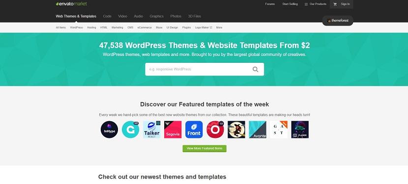 ThemeForest buy templates