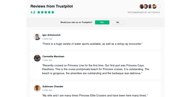 Get A Widget To Integrate Reviews From Trustpilot In The Website