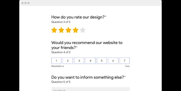 Feedback Form widget