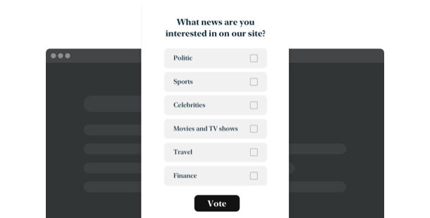 Poll widget <br>for your website