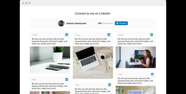 LinkedIn Feed <br>widget for website