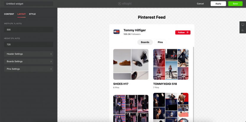 how to integration Pinterest to your website
