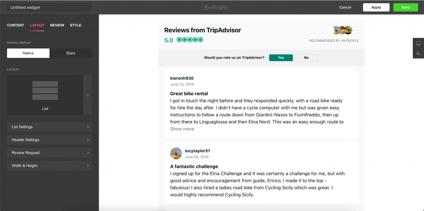 how to integrate Tripadvisor to your website