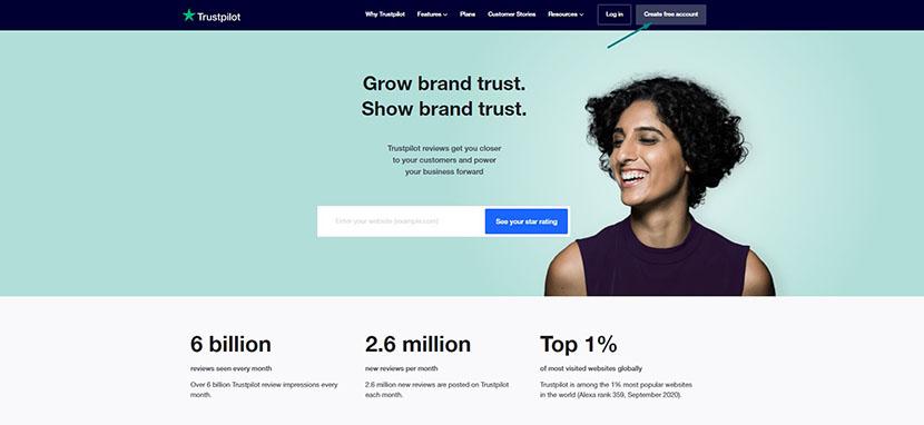 Trustpilot business platform
