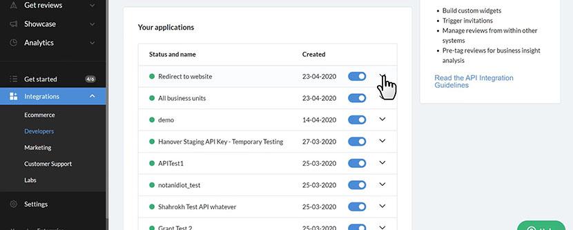 Trustpilot application details