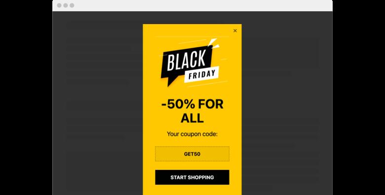 Black Friday Sale Popup widget