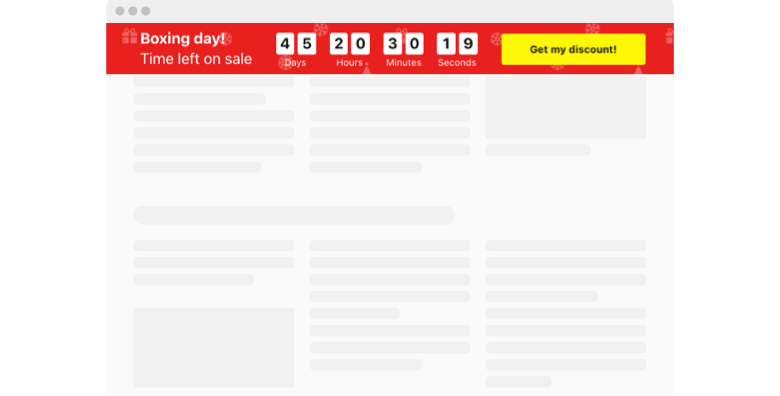 Boxing Day Countdown Timer widget