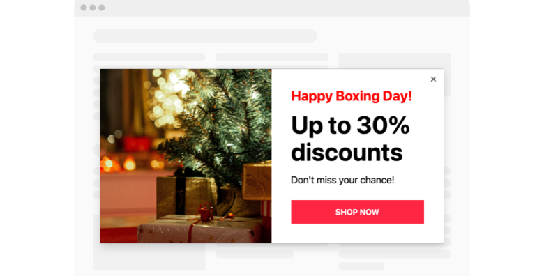 Boxing Day Popup template