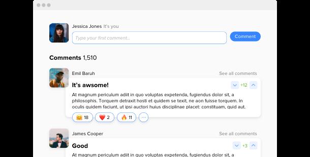 Comments <br> widget for website
