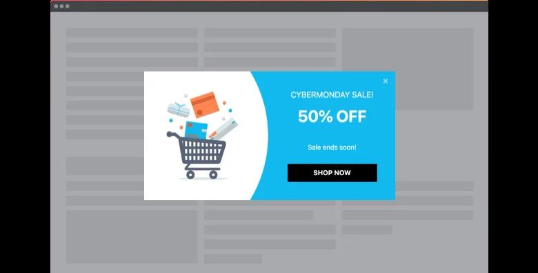 Cyber Monday Sale Popup widget template