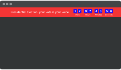 Presidential Election countdown timer template