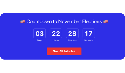 November Election countdown template