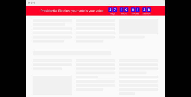 Election Countdown Clock widget