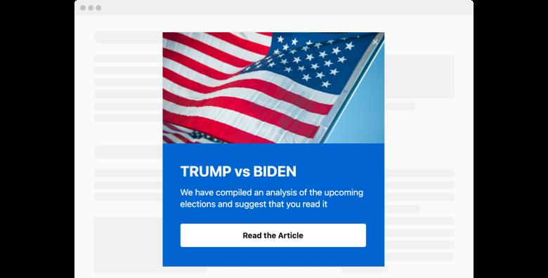 Presidential Election Popup widget