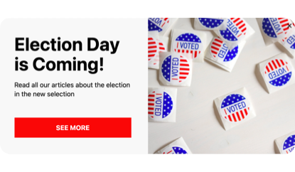 Election day is coming! popup template