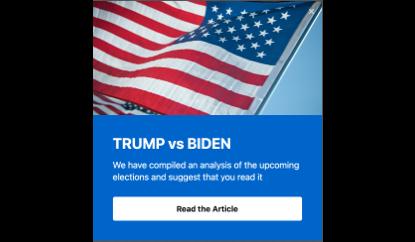 Trump vs Baiden popup template
