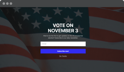 Vote on November 3 popup template
