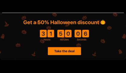 Halloween discount countdown template