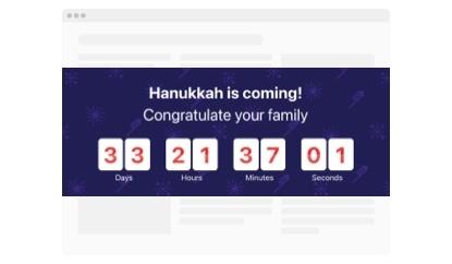 hanukkah countdown timer template