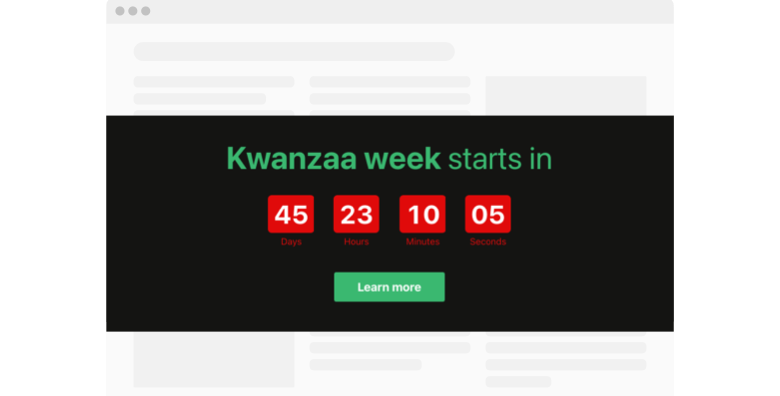 Kwanzaa Countdown Timer template