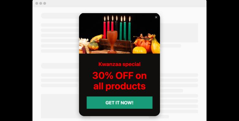 Kwanzaa Popup widget template