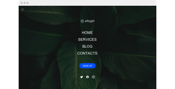 Navigation Menu <br>widget for website