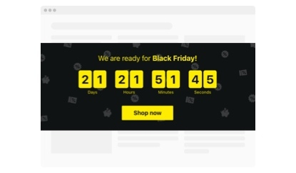 We are ready for Black Friday countdown template