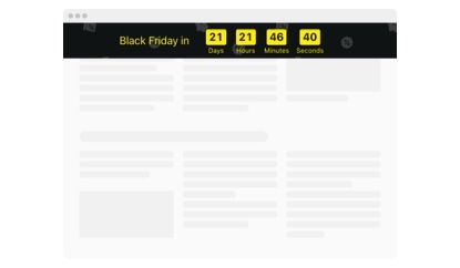 Black Friday Countdown Timer template