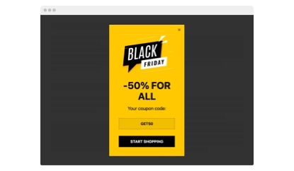 Black Friday Coupon popup template