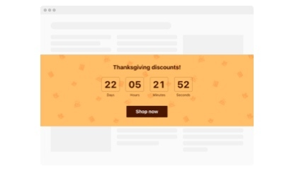 Thanksgiving Countdown Timer template
