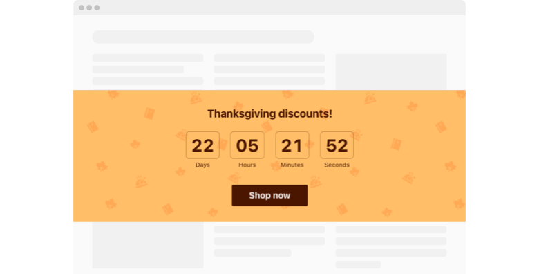 Thanksgiving Countdown Timer widget template