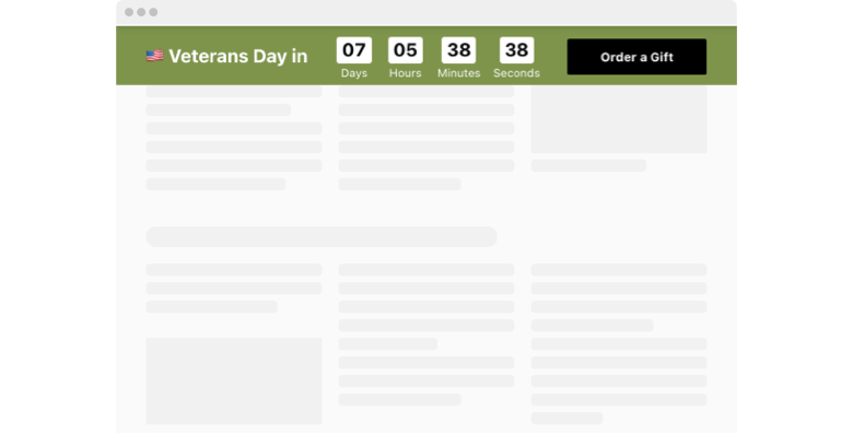 Veterans Day Countdown Timer