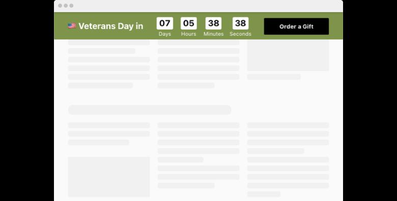 Veterans Day Countdown Timer
