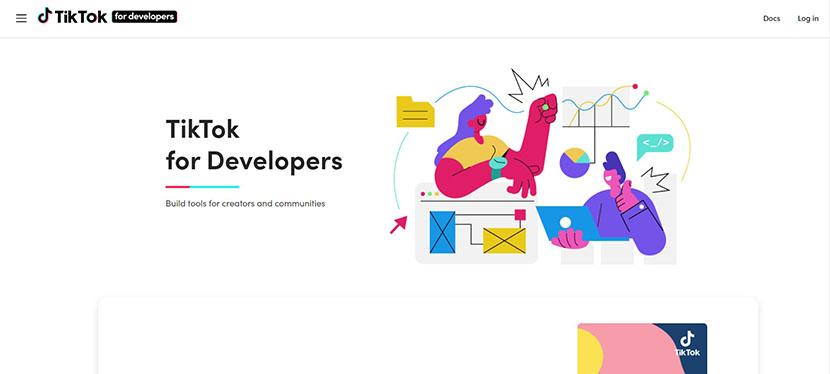 TikTok developer website