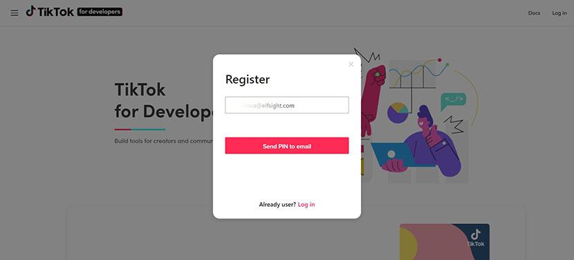 TikTok email verification