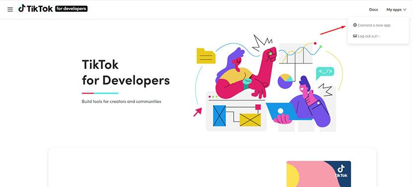 Connect application to TikTok API