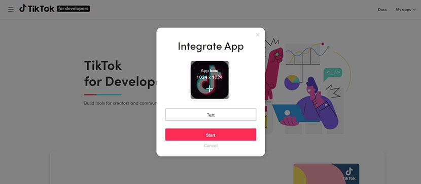 Create TikTok Application
