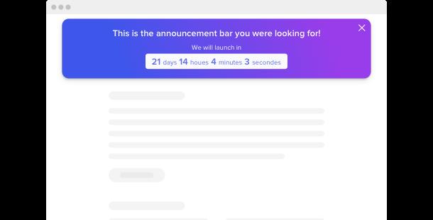 Announcement Bar <br> widget  for website